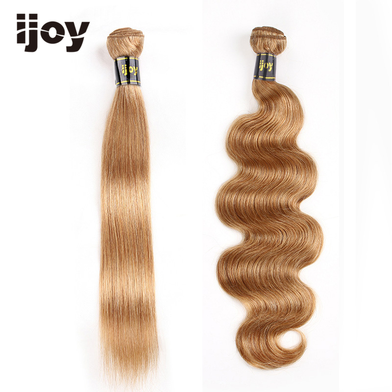 Straight & Body Wave Bundles #27 Honey Blonde Colored Bundles 8