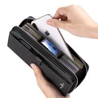 WILLIAMPOLO2020 new high quality wallet men's long RFRD multi card large capacity men's card bag multifunctional handbag