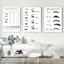 Fashion Canvas Painting Lash Extensions Technician Guide Poster and Prints Makeup Wall Art Picture Modern Salon Decor Girls Gift sakhalin and kurils modern guide