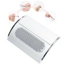 Colector de succión de polvo de uñas potente con 3 ventiladores, aspiradora, herramientas de manicura con 2 bolsas colectoras de polvo, equipo de salón de uñas