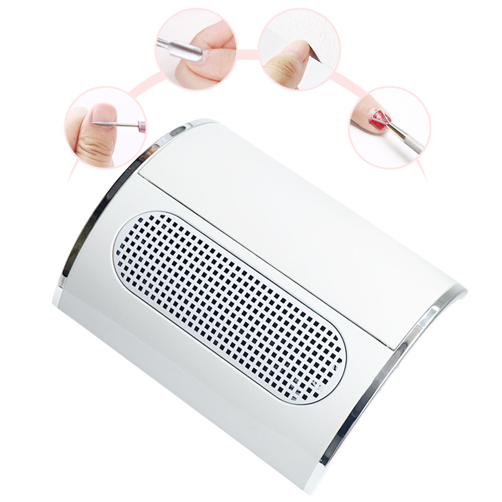 Powerful Nail Dust Suction Collector with 3 Fan Vacuum Cleaner Manicure Tools with 2 Dust Collecting Bags Nail Salon Equipment