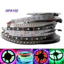Apa102 tira, 1m/3m/5m 30/60/72/96/144 leds/pixels/m apa102 smart led pixel strip, dados e relógio seperly dc5v ip30/ip65/ip67