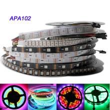 Apa102 tira, 1m/3m/5m 30/60/72/96/144 leds/pixels/m apa102 smart led pixel strip, dados e relógio seperly dc5v ip30/ip65/ip67