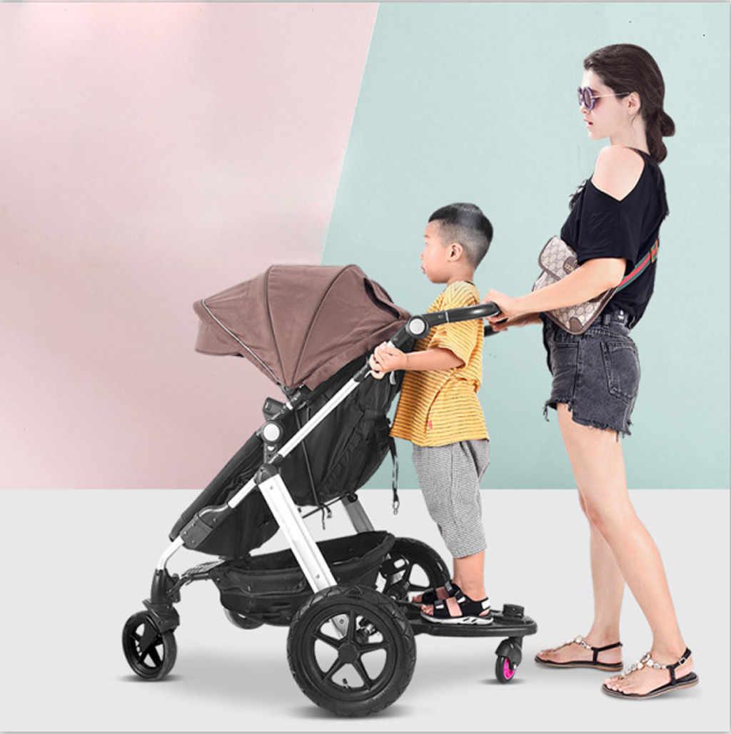 ファッション子供ベビーカーペダルアダプタ第二子補助トレーラー双子スクーターヒッチハイクキッズ立ちプレートとシート
