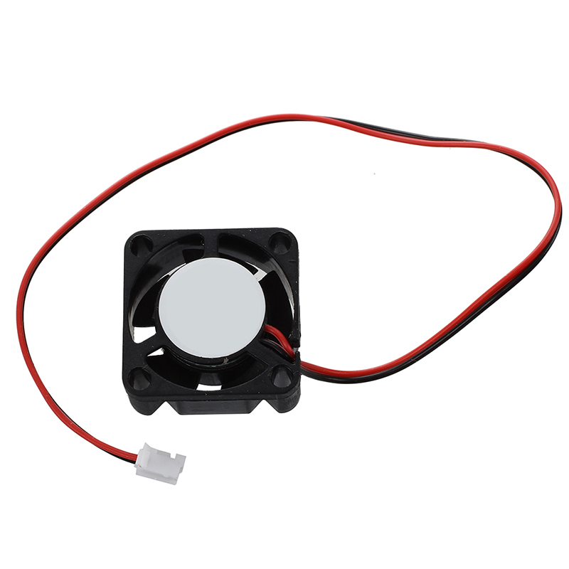 25mm X 10mm 2Pin DC 12V 0.05A Black Plastic Mini Cooling Fan