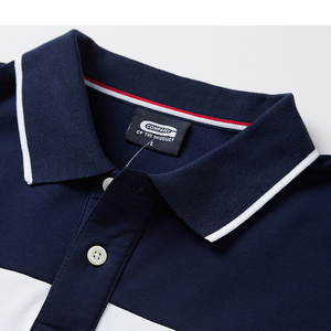 Image 4 - 2020 Polo Shirt Men Big Tall Long Sleeves Top Tees Cotton Male Large Tee Autumn Fit Slim Patchwork Polo Shirts Plus Size M 5XL