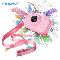 Kinder Digital Kamera 30MP 2,4-zoll IPS Bildschirm 1080P HD Video Selfie Mini SLR kinder Spielzeug Kamera für Neue Jahr Geschenke der Minibear