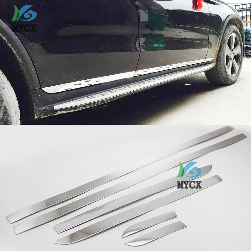 Chrome Molding Door Body Strips for <font><b>Mercedes</b></font> Benz GLC C Class 2016-2018 W205 C200 C260 <font><b>C300</b></font> Accessories Trim Covers Car styling image