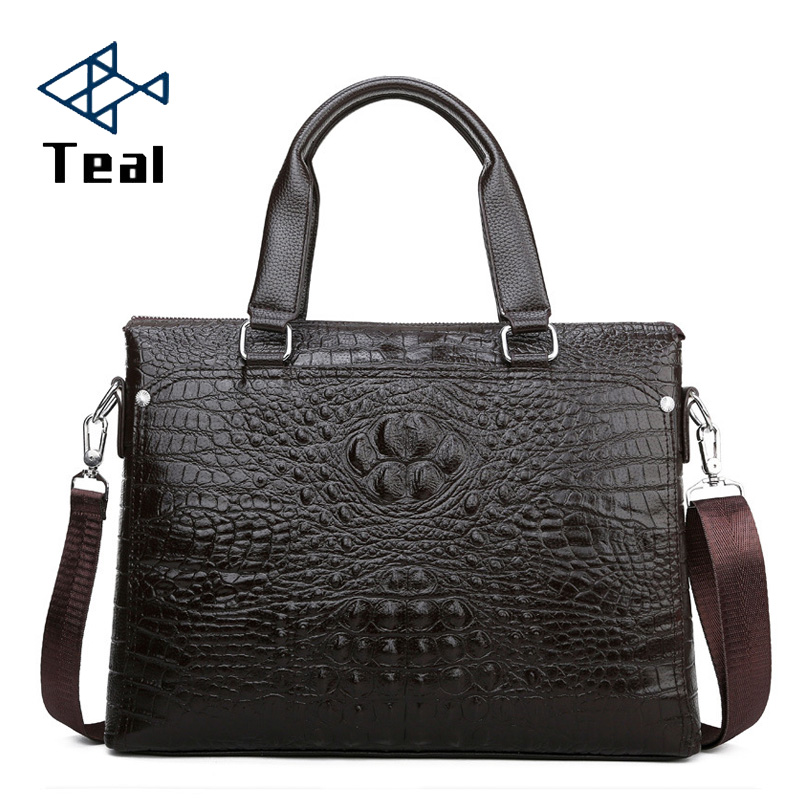 Men's Briefcases Brand Fashionable Men's Crossbody Bags High-Quality Briefcases Male Pu Leather Bags 2020