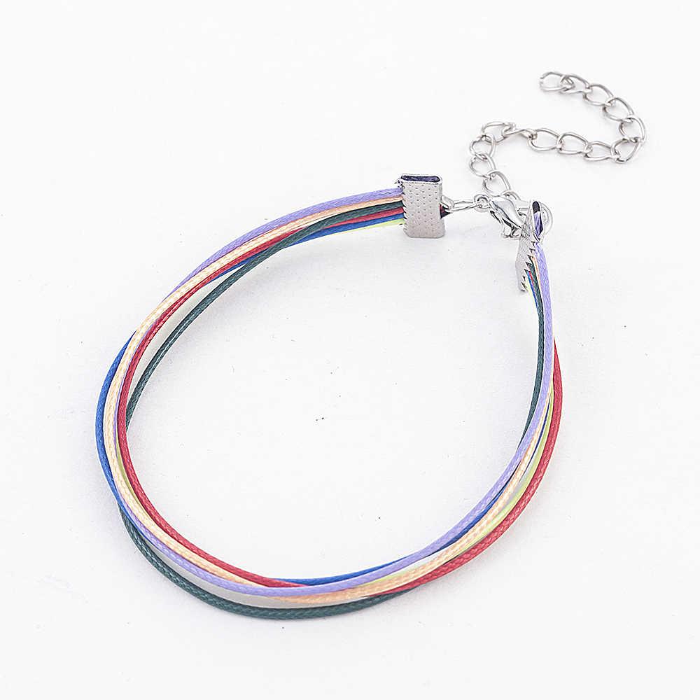 2019 moda PU skórzana bransoletka kobiety mężczyźni kochanek Gay Pride Rainbow Charms bransoletka prezent dla gejów miłośnik biżuterii prezent dla par