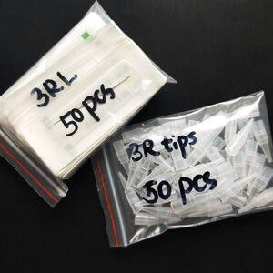 Image 5 - 50 adet 3RL iğneler ve 50 adet geleneksel makine iğne kapakları için kalıcı makyaj kaş Eyeliner dudak dövme