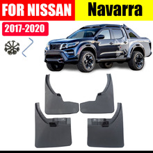 Mud flaps For Nissan Navarra 2017-2020 Mudguards Fender flap Splash Guard Fenders Accessories  Front Rear 4 PCS