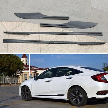 ABS Chrome Side Door Body Protector Molding Cover Trim For HONDA CIVIC 2016 2017 2018 2019 2020