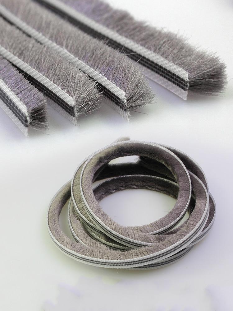 5Meters/Lot Aluminum sliding door window groove nylon pile brush seal weatherstrip dust proof strip