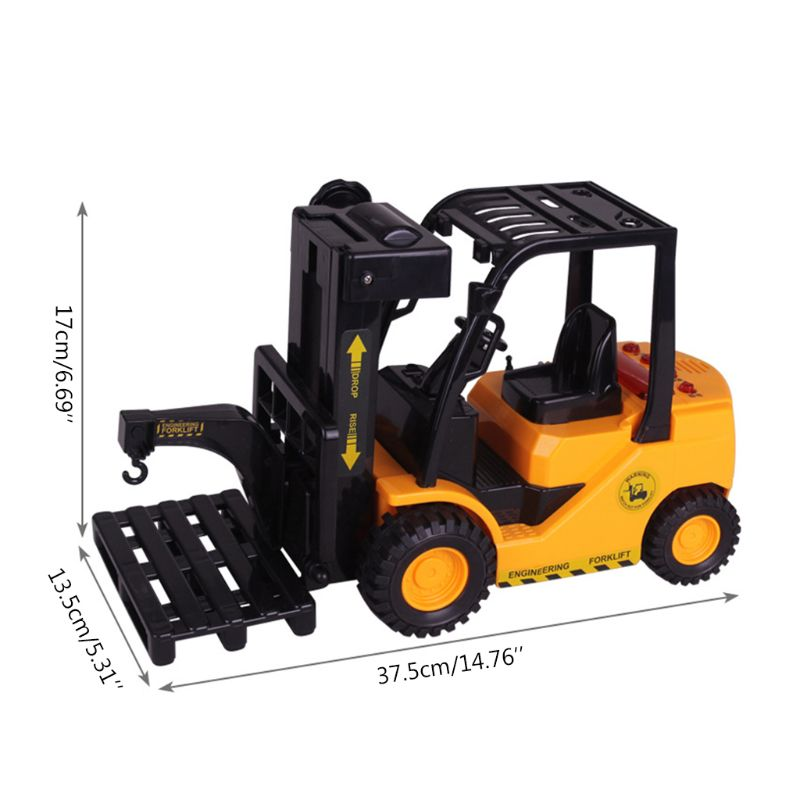 Купить с кэшбэком Electric remote control forklift toy construction toy for children