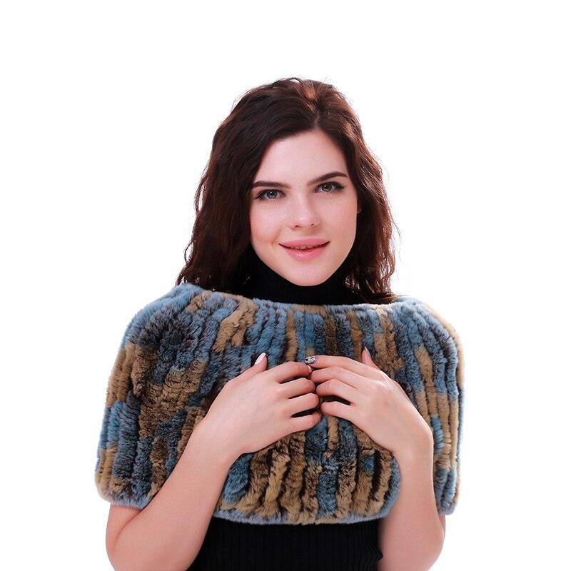Réel Rex peau de lapin tissu élastique dames hiver pull femmes mode élastique Net lapin laine tricot écharpe