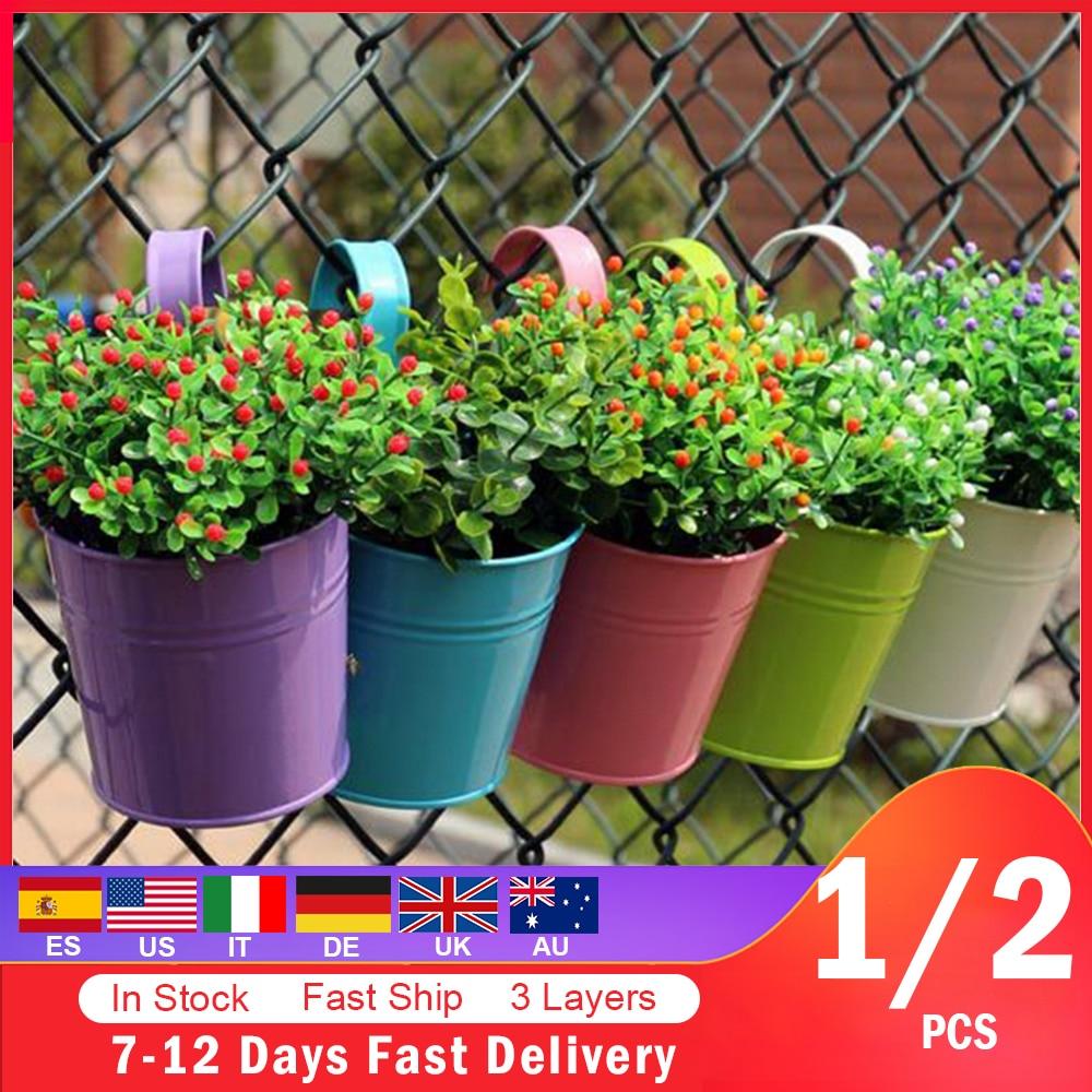 1 2pcs Hanging Garland Flower Pot