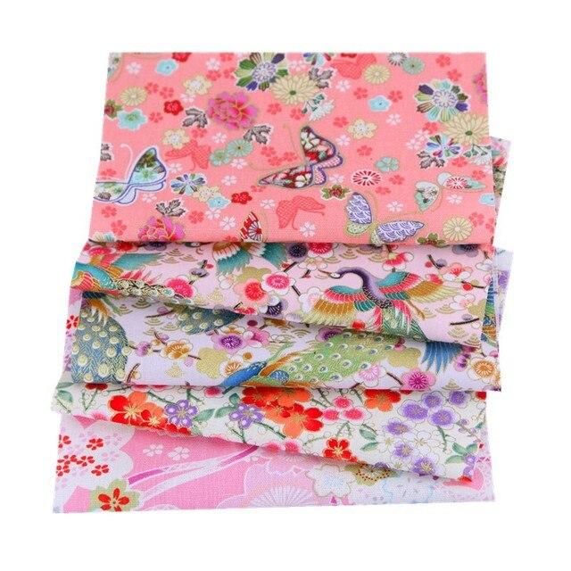 5pcs 20x25cm Black Cotton Patchwork Sewing Quilting Fabrics Bundle For Patchwork Needlework DIY Handmade Japanese Style Cloth
