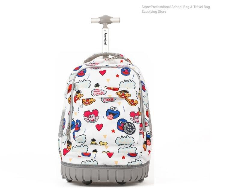 18 Inch School Rolling Backpack Wheeled Backpack Kids School Backpack On Wheels Travel Trolley Backpacks Bags For Teenagers