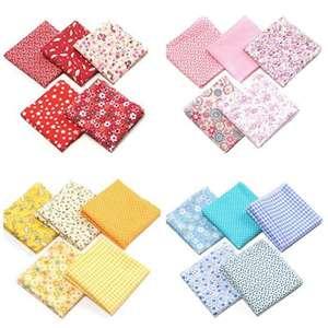 7 pieces/pack cotton fabric bundle print patchwork fabric quarters 25x25cm for DIY