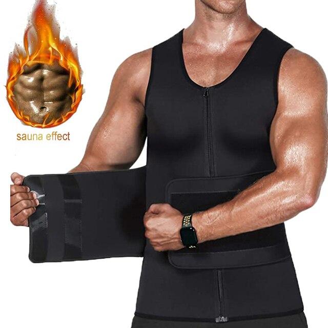 Мужские сауна жилет для сжигания жировой прослойки с боков и живота 1