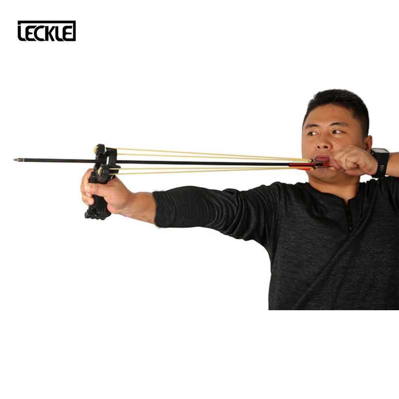 Powerful Archery Slingshot With Arrow Rest And Wrist Support High Quality Nylon Outdoor Hunting Shooting Catapult CS Games