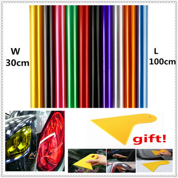 30x100cm Car HeadLight lamp Light Vinyl Film Sticker Decal for BMW 335is Scooter Gran 760Li 320d 135i E60 E36 F30 F30 image