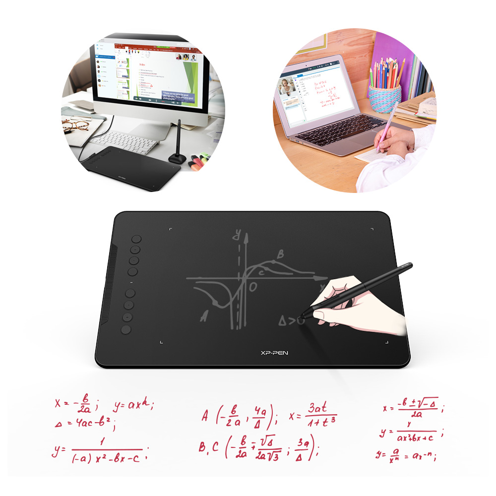 Award Winning XP-Pen Deco 01 V2 10'' Drawing Tablet Graphics Digital Tablet with Tilt Support with 8192 levels pressure Battery-Free Pen 3