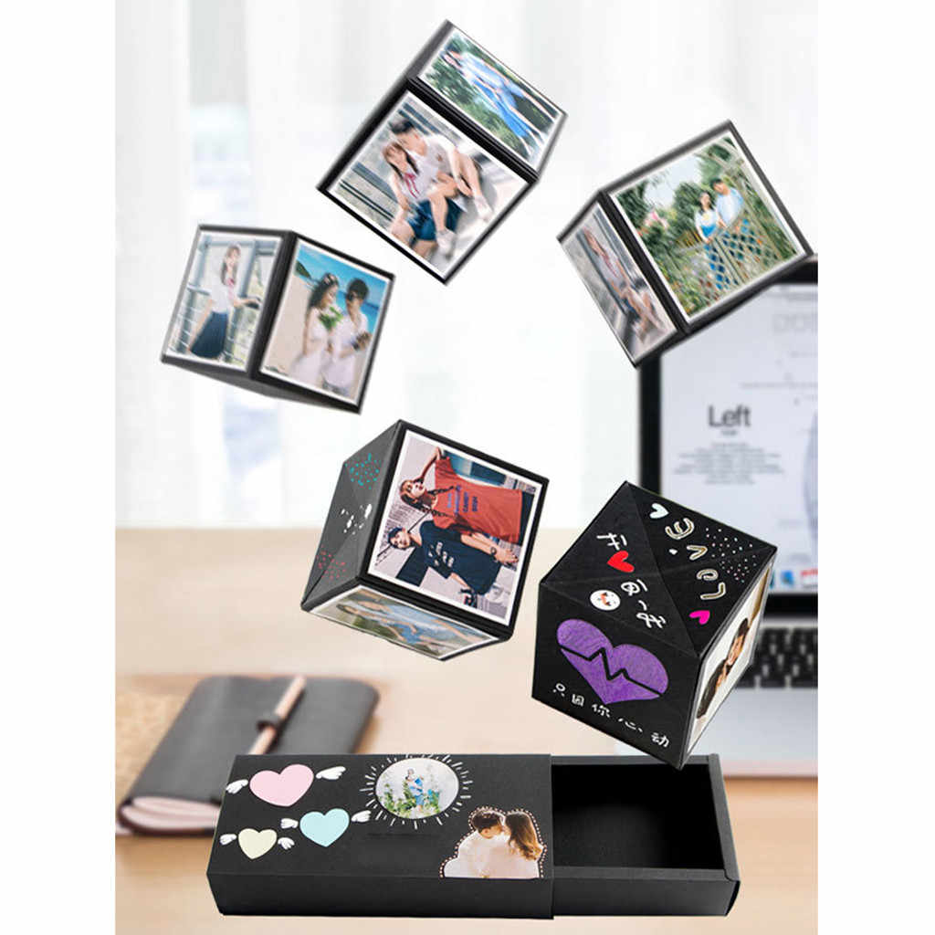 DIY Jump Surprise Photo Box gift box Creative Card Surprised For