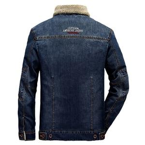 Image 5 - 2020 בתוספת גודל M 6XL חורף גברים של אופנה מזדמן סגנון צמר חם קאובוי מעיל מעיל גבר אביב סתיו ג ינס כחול מעילי מעילים
