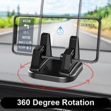 360 Graden Draaien Auto Mobiele Telefoon Houder Dashboard Plakken Universele Stand Beugel Voor Mobiele Telefoon