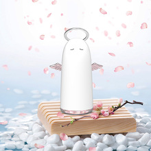 цены GRTCO Mini Cute Angel Air Humidifier Usb Ultrasonic Mist Maker Led Colorful Night Light Steamer Silent Diffuser 230ml