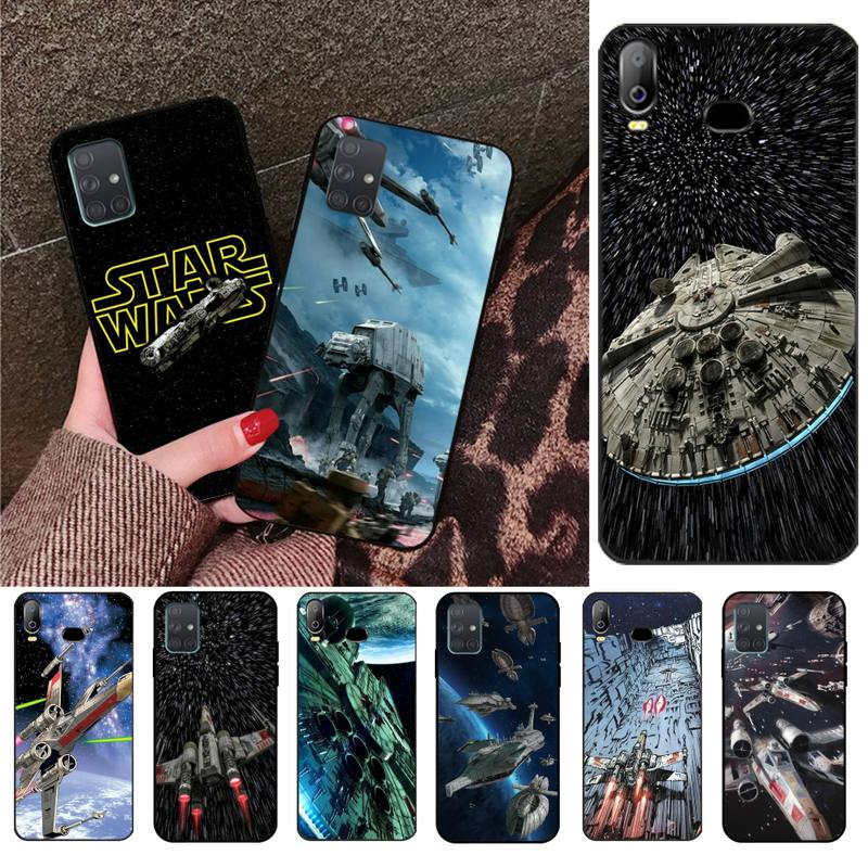 Star Wars Spaceship Black Soft Shell Phone Case Capa For Samsung A10 A20 A30 A40 A50 A70 A80 A71 A91 A51 A6 A8 2018