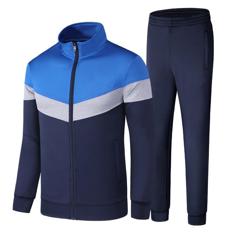 Men's Sportswear Sets Spring Autumn Male Casual Tracksuit 2 Piece Sweatshirt + Sweatpant Set Men Brand Clothing Asian Size M-5XL