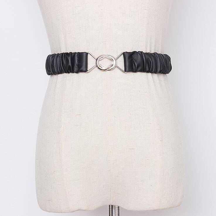 Women's Runway Fashion Elastic Pu Leather Cummerbunds Female Dress Coat Corsets Waistband Belts Decoration Wide Belt R2178