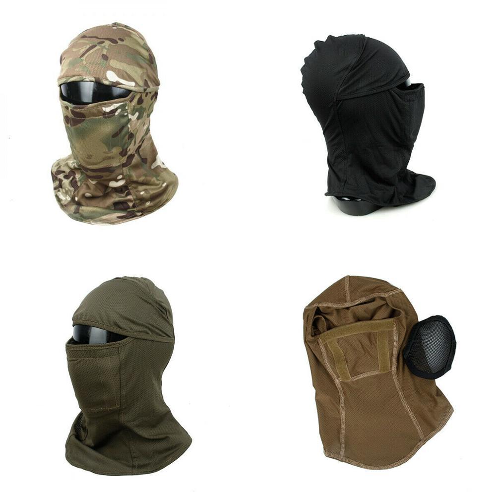 TMC3267 CS Tactical Camo Head Cover Metal Mesh Balaclava Full FaceMask Sunscreen Dust proof Full wrapped Innrech Market.com