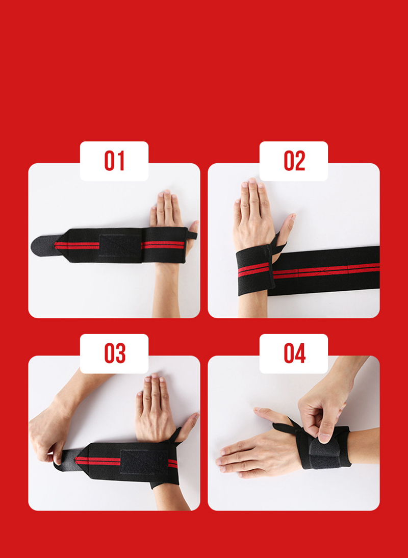 Weight Lifting Strap Fitness Gym Sport Wrist Wrap Bandage Hand Support Wristband (2)