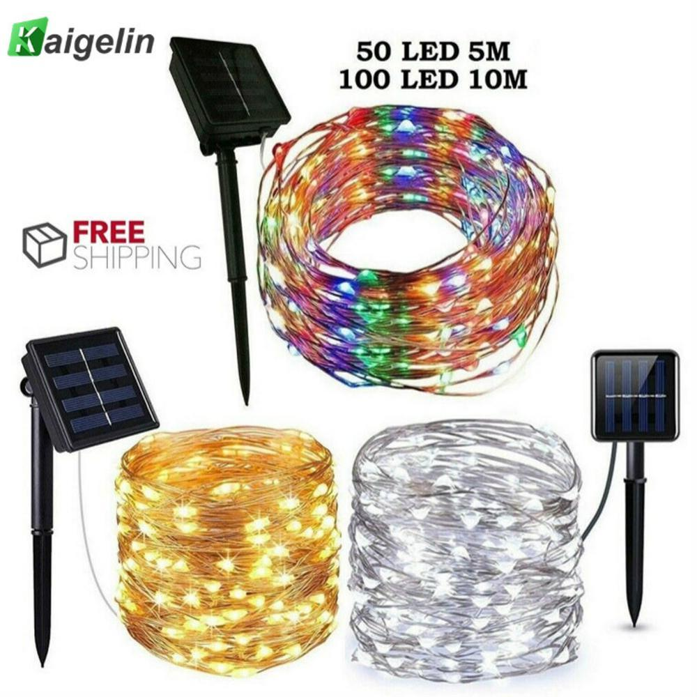 6/10M LED Outdoor Solar Lamp String Lights 60/100 LEDs Fairy Holiday Christmas Party Garland Solar Garden Waterproof Linghting