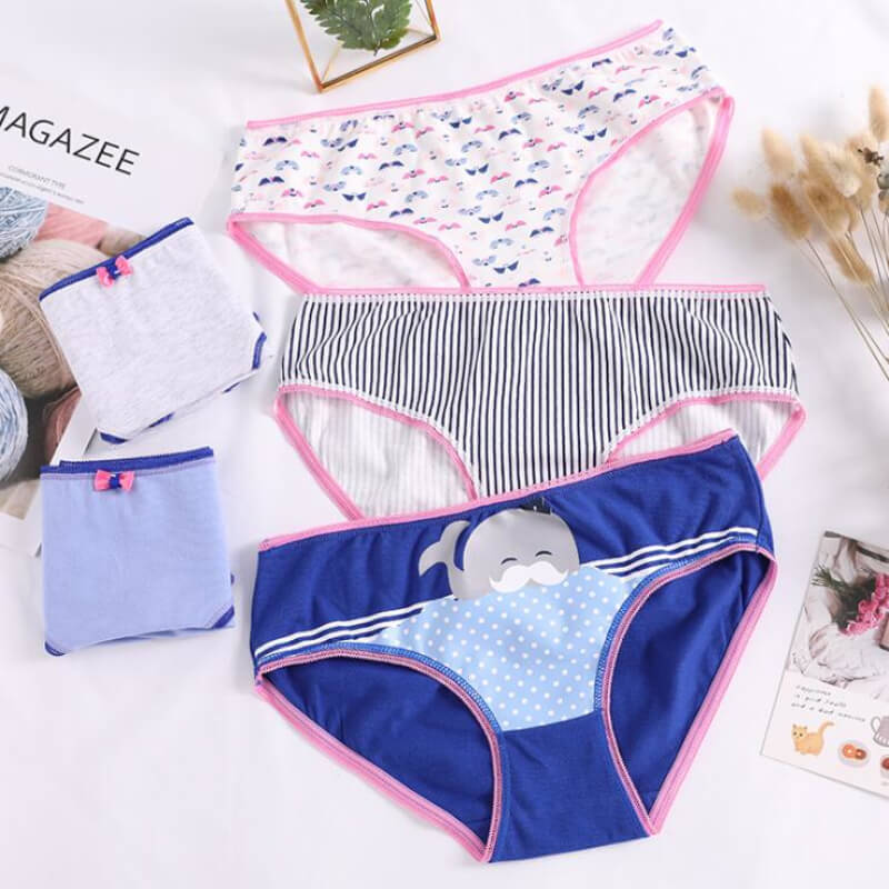 Soft Cotton Women's Intimates Underwear Briefs Low Rise Sexy Ladies Panties Girls Underwears Breathable Print Women Underpants