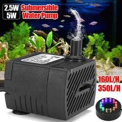 Mini LED zatapialne pompa wodna z oświetleniem LED akwarium pompa zbiornik pompka do akwarium zbiornik basen fontanna staw cichy filtr