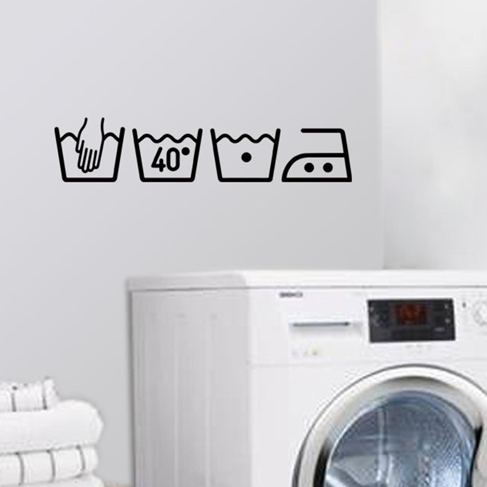 Home Decor Items Washing Machine Removable Waterproof Sticker Decal Laundry Room Wall Decor Home Furniture Diy 5050 Pk
