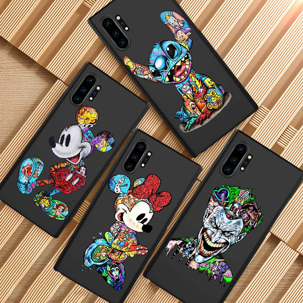 Minnie Mouse Groot Joker Stitch Marvel untuk Samsung Galaxy S6 S7 Edge S8 S9 S10 Plus Lite Note 8 9 ponsel Case Cover Coque Funda