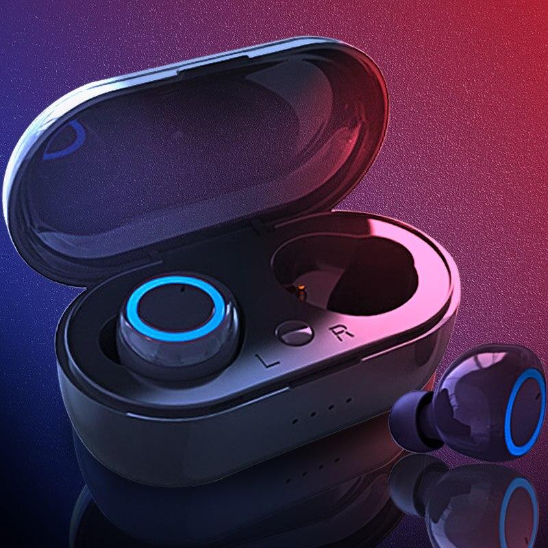 TWS 5.0 3D IPX5 ButtonControl Earbuds Esporte Fones de Ouvido Sem Fio Estéreo Bluetooth Fone de Ouvido À Prova D' Água Fone De Ouvido Apto para todos os telefones