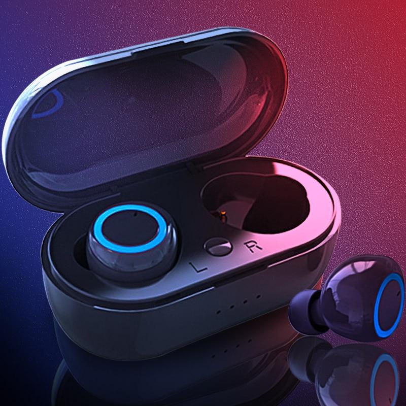 TWS 5.0 3D Stereo Bluetooth Earphone ButtonControl Wireless Headphones Earbuds Sport IPX5 Waterproof Earphone Fit For All Phones
