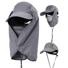 Outdoor Sunshade Sunscreen Cap Removable UV-Protection Breathable Fishing Mountaineer Forest Anti mosquito Windproof  Sand Hat