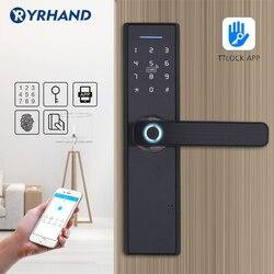 WIFI App Elektronische Türschloss, Intelligente Biometrische Türschlösser Fingerprint, smart wifi Digitale Keyless Türschloss