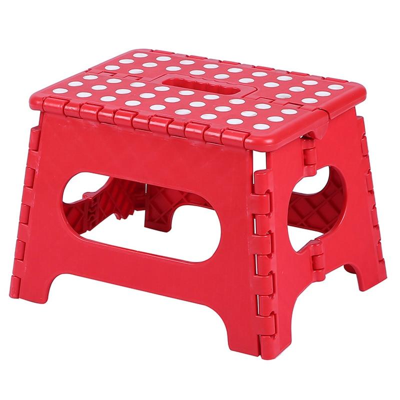 Foldable Step Stool Lightweight Plastic Step Stool Non Slip For Kitchen Bathroom Bedroom Tabouret Banqueta Para Cozinha UYT Shop