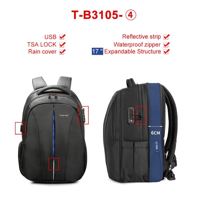 Multifunction 15.6inch Laptop Backpack  2