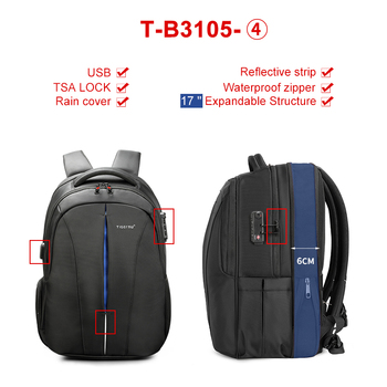 Waterproof 15.6inch Laptop Travel Backpack 2