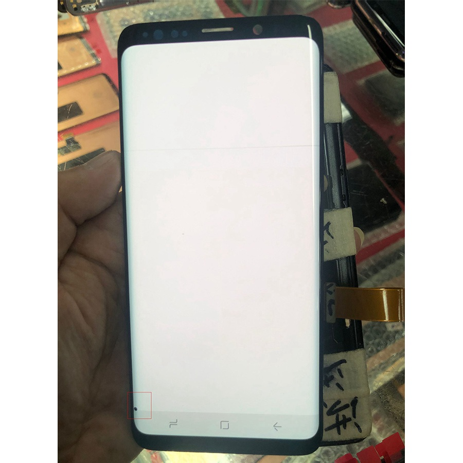 포인트 라인 삼성 갤럭시 s8 s8 + g950a g950u g950f s8 플러스 g955 g955f lcd s9 디스플레이 터치 스크린 디지타이저 용 amoled 화면